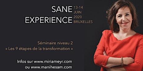 Séminaire SANE Expérience niveau 2 à Bruxelles, animé par Miriam Rabih billets