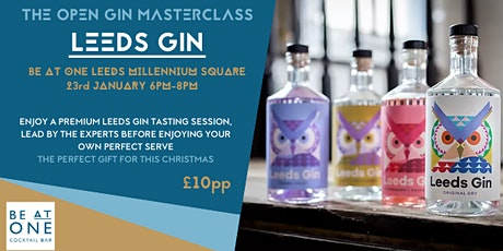 The Open Masterclass with Leeds Gin tickets
