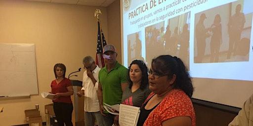 Curso para Entrenadores de Trabajadores Agricolas - Seguridad en Pesticidas