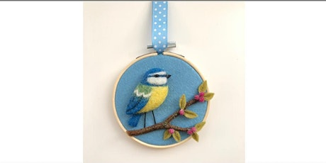NEEDLE FELTED BLUETIT 2D PICTURE tickets
