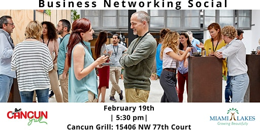 Business Networking Social (Cancun Grill)