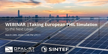 WEBINAR | Taking European PHIL Simulation to the Next Level tickets