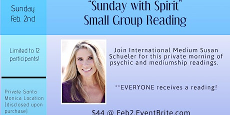 """""""Sunday with Spirit"""" Small Group Reading with Susan Schueler tickets"""
