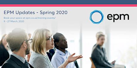 EPM Spring Updates 2020 - Cambridge tickets