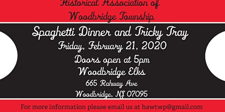HAWT's Annual Spaghetti Dinner and Tricky Tray tickets