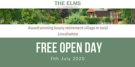 Open Day - The Elms Retirement Park tickets