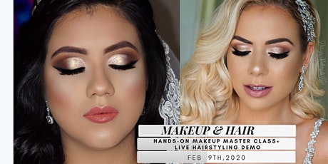 HANDS ON MAKEUP MASTERCLASS + LIVE HAIRSTYLING DEMO!! boletos