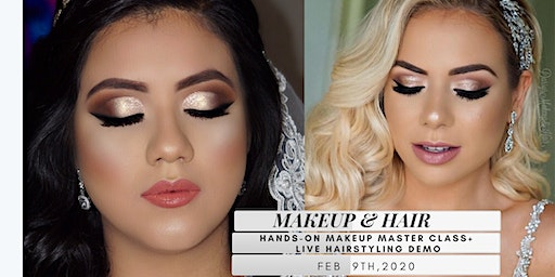 HANDS ON MAKEUP MASTERCLASS + LIVE HAIRSTYLING DEMO!!