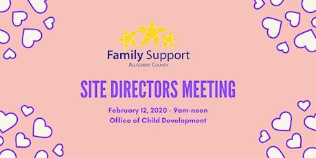 Site Directors, Feb 2020 tickets