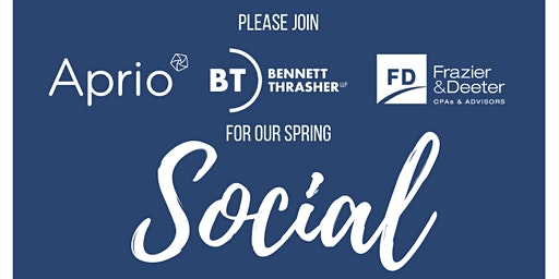 Auburn Spring Social with Aprio, Bennett Thrasher, and Frazier & Deeter