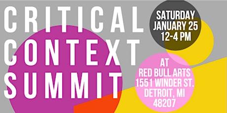 Critical Context Summit tickets