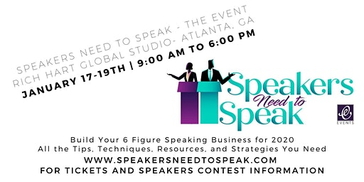 Speakers Need to Speak - The Business of Speaking 2020
