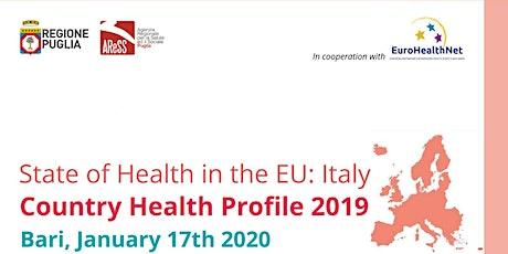 State of Health in the EU - Bari biglietti