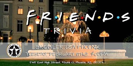Friends Trivia at Growler USA Phoenix tickets