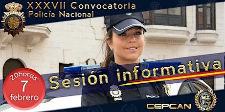 Sesión informativa Policía Nacional entradas