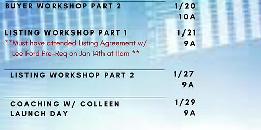 Listing Workshop Part 2: