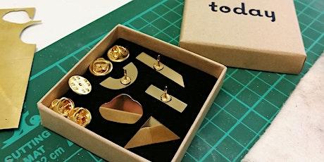 Brass Pin Badge Making Workshop tickets
