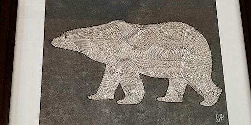 Animal Embossing Art Class (mixed media)