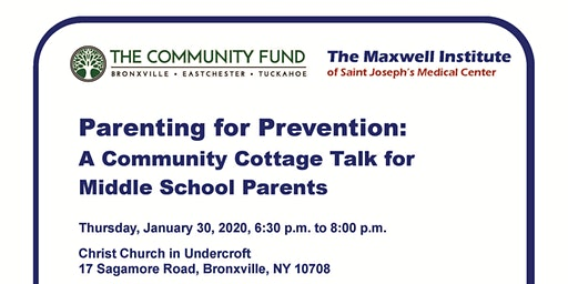 Parenting for Prevention: A Cottage Talk for Middle School Parents