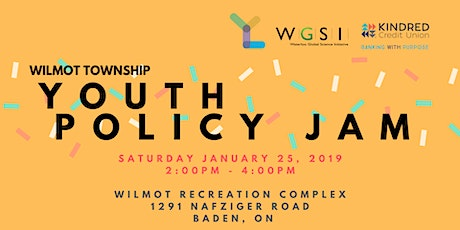 Youth Policy Jam: Wilmot Township tickets