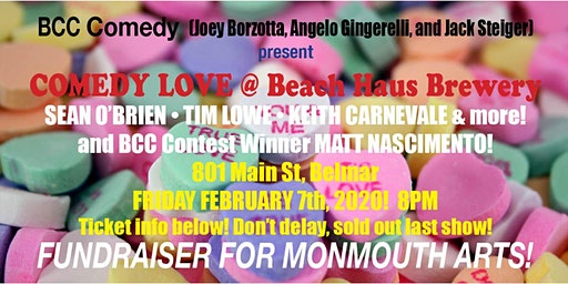 BCC LOVE at Beach Haus Brewery! Live Comedy!