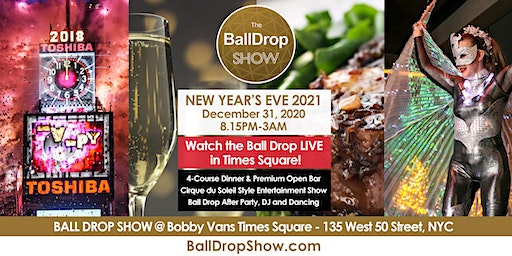 BALL DROP SHOW New Year's Eve 2021 - LIVE Ball Drop View & Show - Dec 31, 2020