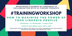 Training Workshop: How to Maximise The Power of Your...