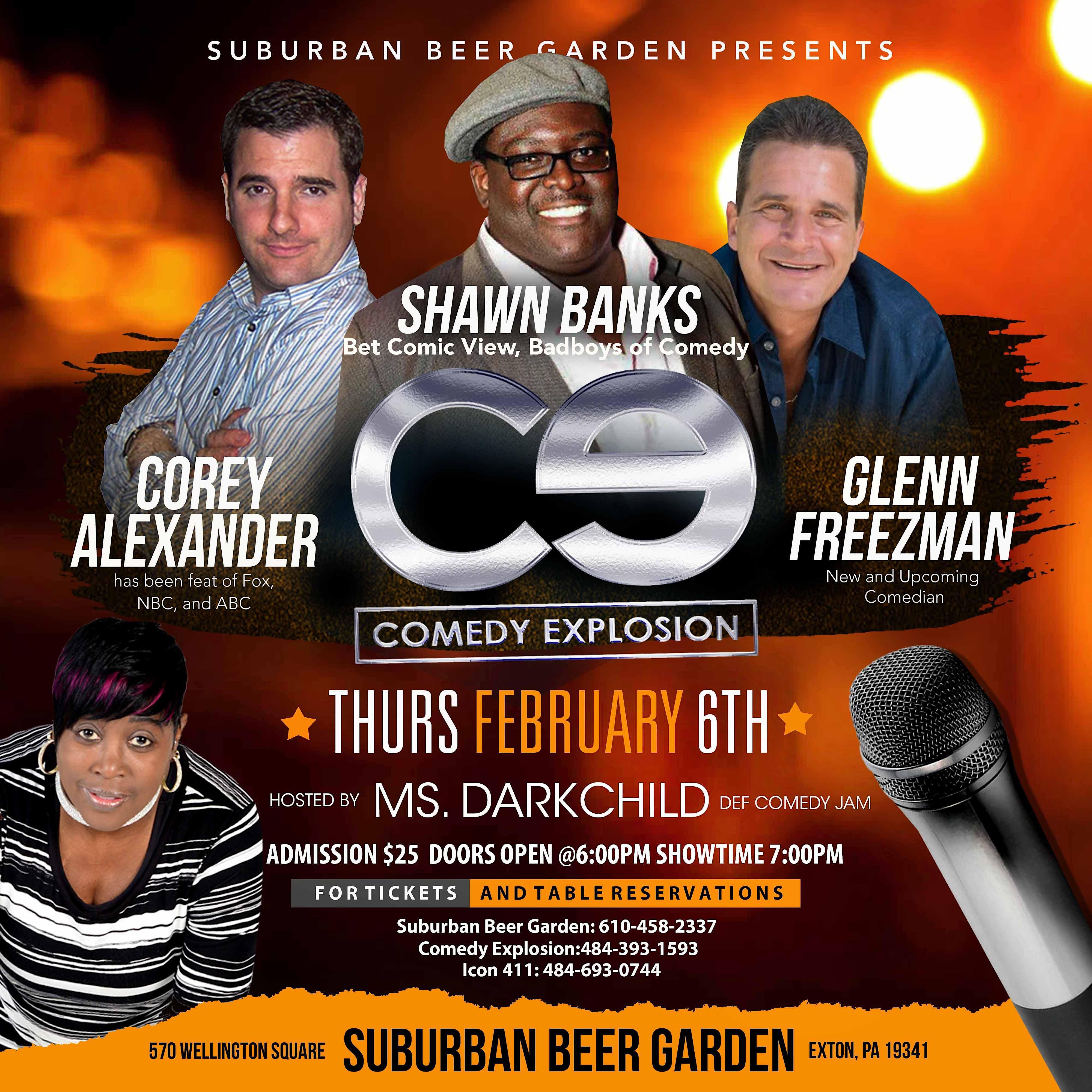Comedy Explosion at Suburban Beer Garden