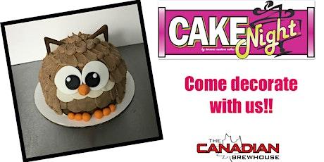 CakeNight - Fort Saskatchewan - Owl cake tickets