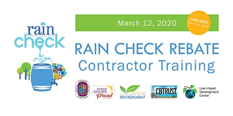 Day 1: Spring 2020 Prince George's County Rain Check Rebate Contractor Training tickets