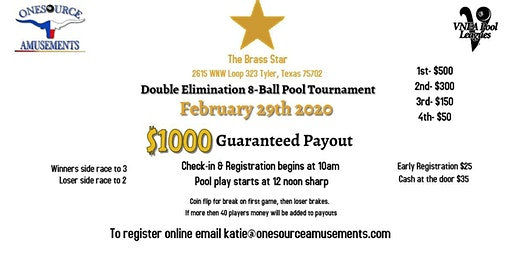 Double Elimination 8-Ball Pool Tournament