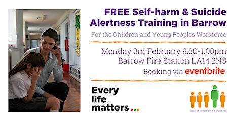 Self-harm & Suicide Alertness Training - Barrow tickets