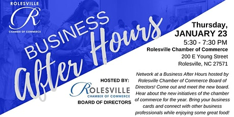 Business After Hours - Rolesville Chamber Board of Directors tickets
