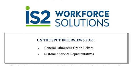 IS2 Workforce Solutions Hiring Event tickets