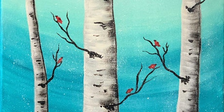 Cardinals on Birch trees at Soulfood Coffeehouse, Redmond tickets