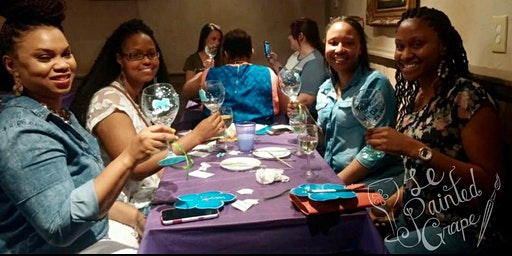 New Class! Join us for our Wine Glass Painting Party Workshop at The Romain Arts and Culture Community Center on 2/15 @ 2:30pm.