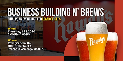 Business Building N' Brews - Exclusively for Loan Officers