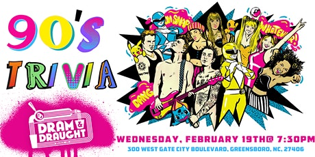 90's Pop Culture Trivia at Dram & Draught tickets