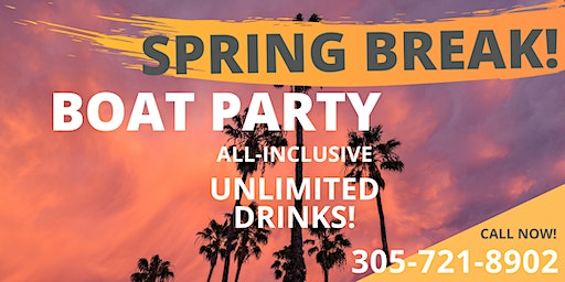 SPRING BREAK - Miami Party Boat - Open Bar & Nightclub free & more !