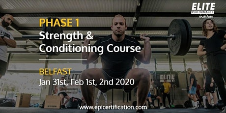 EPI Phase 1 Strength & Conditioning Course | Belfast tickets