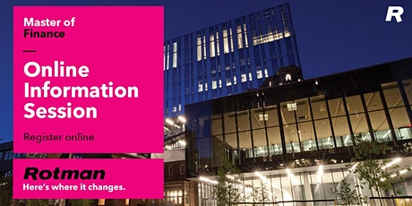 Master of Finance Online Information Session tickets