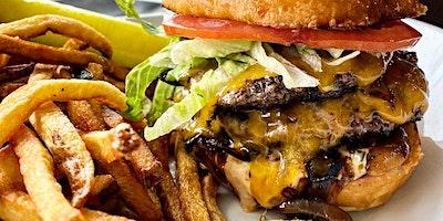 $6.95 DBL CF Burgers w/ Secret Sauce!