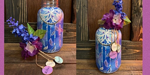 """"""" Dreams, Hopes and Wishes"""" Dream Catcher Jar Paint Night at Dory's-Medford"""
