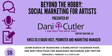 Beyond The Hobby: Social Marketing for Artists tickets