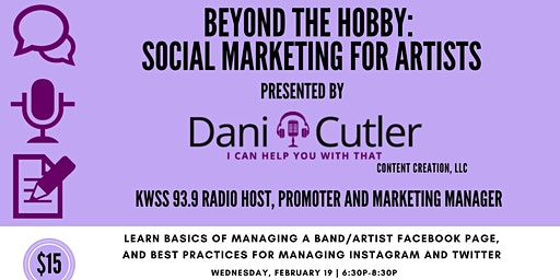Beyond The Hobby: Social Marketing for Artists