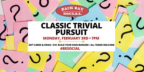 Classic Trivial Pursuit at Back Bay Social! tickets