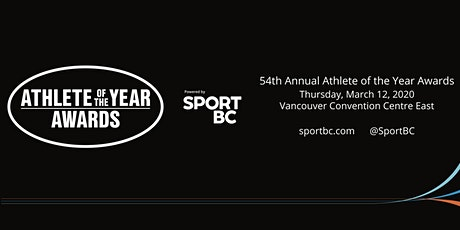 54th Annual Sport BC Athlete of the Year Awards tickets