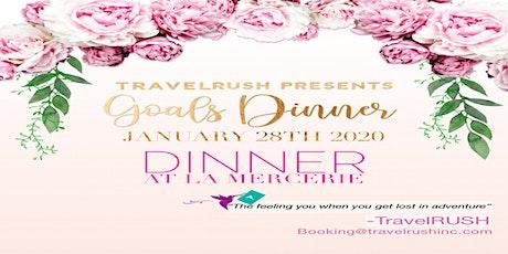 "Travel Rush Presents ""Goals Dinner"" tickets"