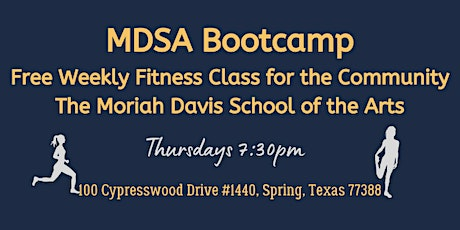 MDSA Bootcamp  -  Free Weekly Fitness Class tickets