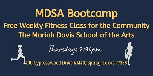 MDSA Bootcamp  -  Free Weekly Fitness Class